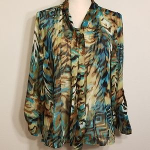 Laura Scott womans size small longsleeve top